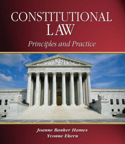 Constitutional Law Principles and Practice  2005 9781401807344 Front Cover