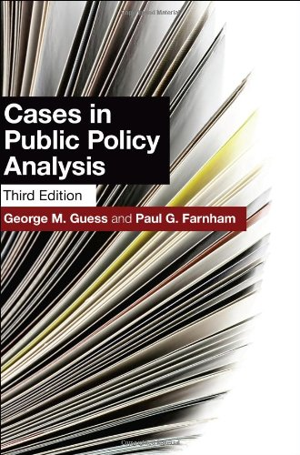 Cases in Public Policy Analysis  3rd 2011 (Revised) edition cover