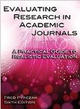 Evaluating Research in Academic Journals: A Practical Guide to Realistic Evaluation 6th 2014 edition cover