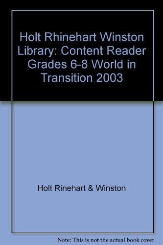 World in Transition  3rd 9780030650345 Front Cover