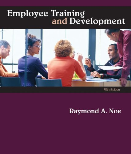 Employee Training and Development  5th 2010 edition cover