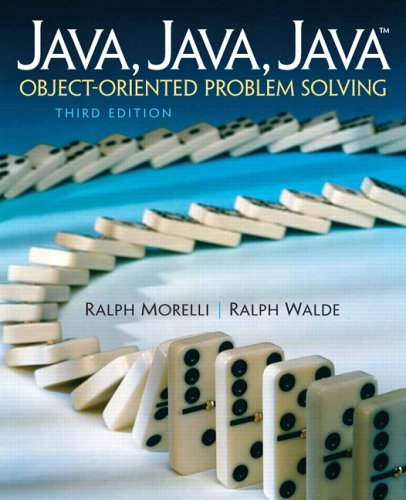 Java Object-Oriented Problem Solving 3rd 2006 (Revised) edition cover