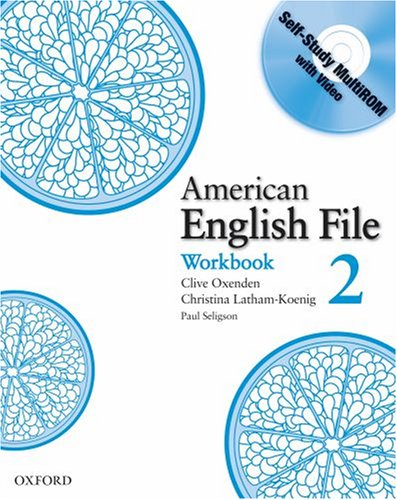 American English File, Level 2  Workbook  edition cover