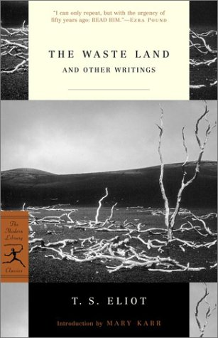 Waste Land and Other Writings   2002 edition cover