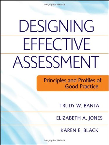 Designing Effective Assessment Principles and Profiles of Good Practice  2009 edition cover