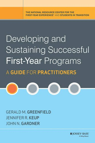 Developing and Sustaining Successful First-Year Programs A Guide for Practitioners  2013 edition cover