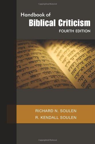Handbook of Biblical Criticism, Fourth Edition  4th 2011 edition cover
