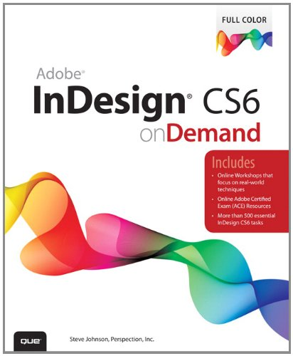 Adobe Indesign CS6 on Demand  2nd 2012 edition cover