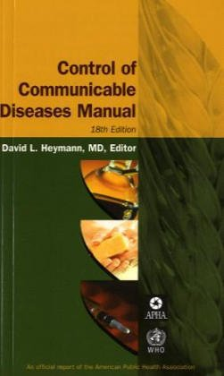 Control of Communicable Diseases Manual 18th 2004 edition cover