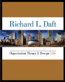 Organization Theory and Design:   2015 edition cover