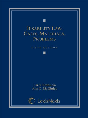 DISABILITY LAW:CASES,MATERIALS N/A edition cover