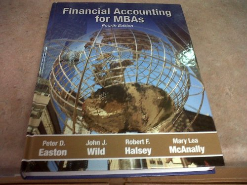 Financial Accounting for Mbas  N/A edition cover