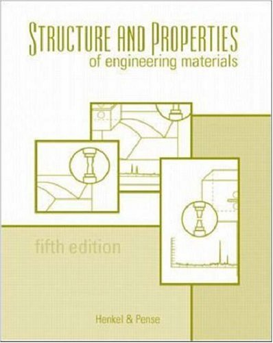Structures and Properties of Engineering Materials (Materials Science & Engineering) N/A edition cover