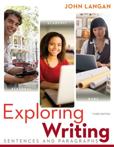 Exploring Writing Sentences and Paragraphs 3rd 2013 edition cover
