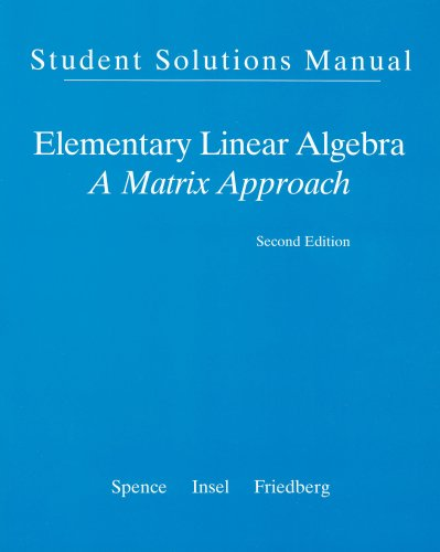 Elementary Linear Algebra A Matrix Approach 2nd 2008 edition cover