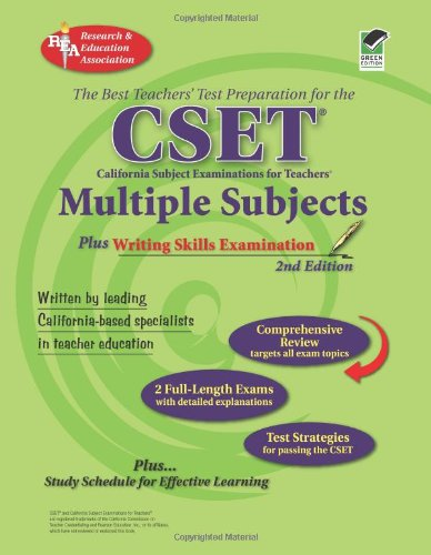 CSET - Multiple Subjects Plus Writing Skills Examination  2nd (Revised) 9780738603346 Front Cover