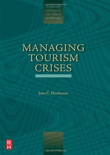 Managing Tourism Crises   2007 9780750678346 Front Cover
