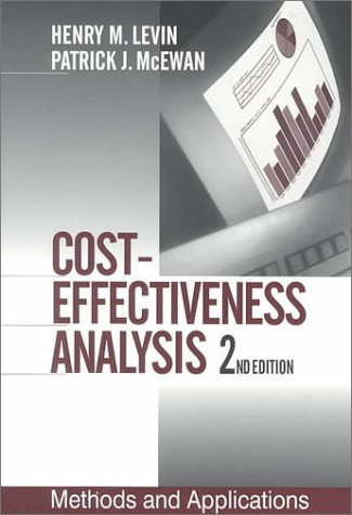 Cost-Effectiveness Analysis Methods and Applications 2nd 2000 (Revised) edition cover