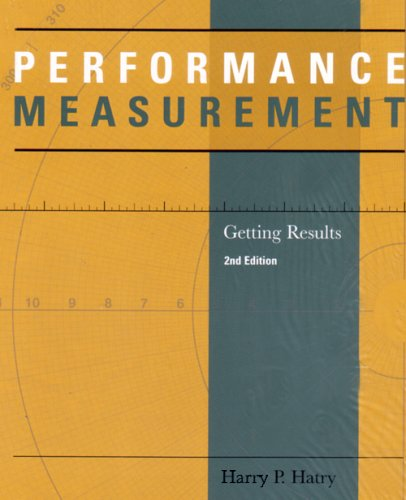 Performance Measurement Getting Results 2nd 2006 edition cover