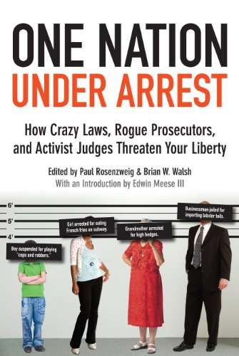 One Nation under Arrest How Crazy Laws, Rogue Prosecutors, and Activist Judges Threaten Your Liberty  2013 edition cover