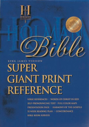 KJV Super Giant Print Reference Bible Burgundy Bonded Leather Large Type edition cover