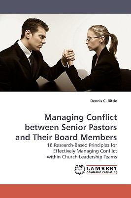 Managing Conflict Between Senior Pastors and Their Board Members N/A 9783838306346 Front Cover