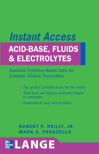 LANGE Instant Access Acid-Base, Fluids, and Electrolytes   2008 9780071486347 Front Cover