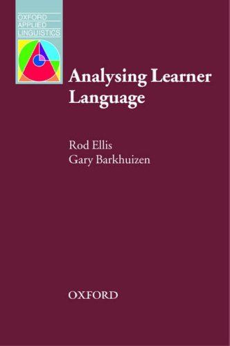 Analysing Learner Language   2005 edition cover