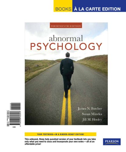 Abnormal Psychology, Books a la Carte Edition  14th 2010 9780205762347 Front Cover