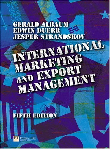 International Marketing and Export Management  5th 2005 (Revised) 9780273686347 Front Cover