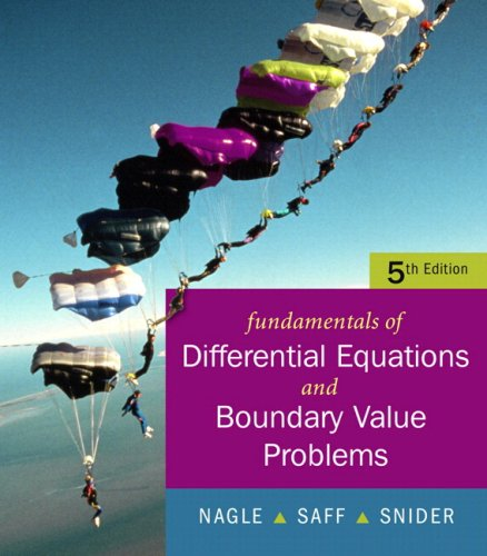 Fundamentals of Differential Equations  7th 2008 edition cover