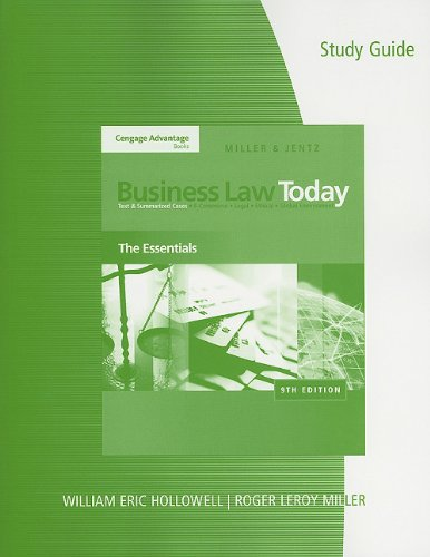 Business Law Today  9th 2011 edition cover
