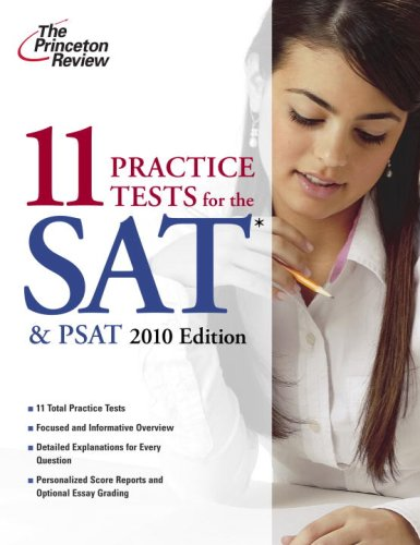 11 Practice Tests for the SAT and PSAT, 2010 Edition  N/A 9780375429347 Front Cover