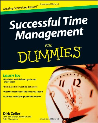 Successful Time Management for Dummies   2009 edition cover