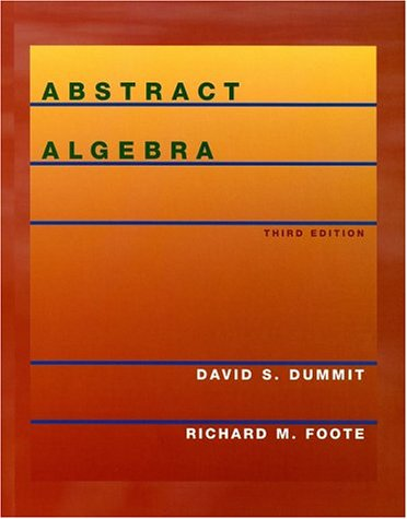 Abstract Algebra  3rd 2004 (Revised) edition cover