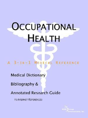Occupational Health - a Medical Dictiona  2004 edition cover