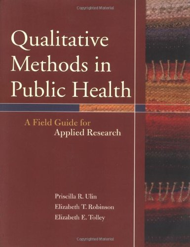 Qualitative Methods in Public Health A Field Guide for Applied Research  2005 edition cover