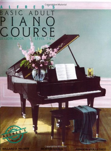 Alfred's Basic Adult Piano Course Lesson Book, Bk 2 Level Two  1984 edition cover