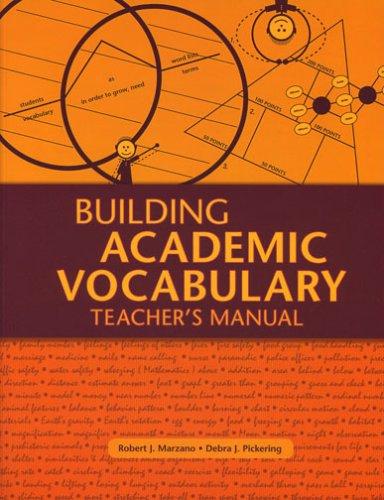 Building Academic Vocabulary Teacher's Manual   2005 (Teachers Edition, Instructors Manual, etc.) edition cover