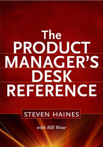 Product Manager's Desk Reference  2nd 2009 edition cover