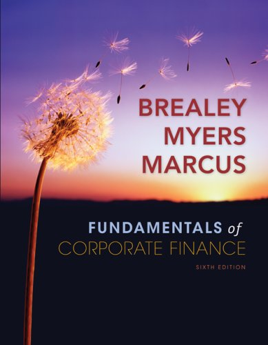Fundamentals of Corporate Finance + Standard and Poor's Educational Version of Market Insight  6th 2009 edition cover