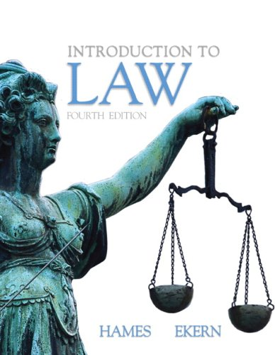 Introduction to Law  4th 2010 edition cover