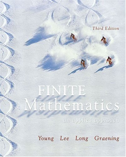 Finite Mathematics An Applied Approach 3rd 2004 (Revised) edition cover