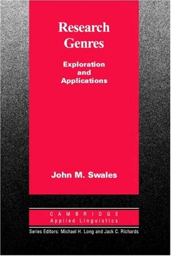 Research Genres Explorations and Applications  2004 edition cover