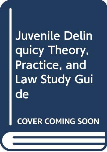 Juvenile Delinquency 7th 2000 (Student Manual, Study Guide, etc.) 9780534557348 Front Cover