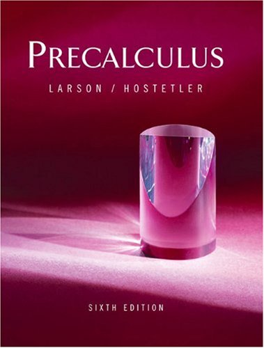 Precalculus  6th 2004 edition cover