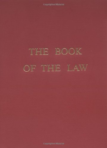 Book of the Law  N/A 9780877283348 Front Cover