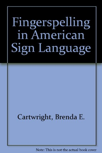 Fingerspelling in American Sign Language   2002 edition cover