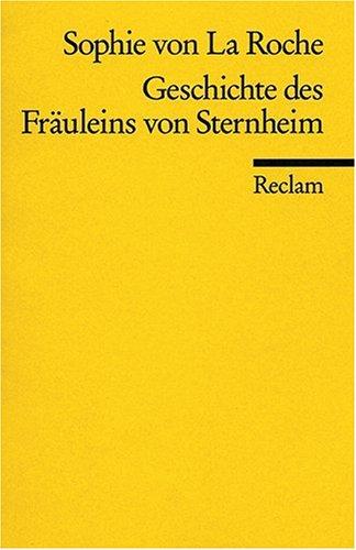 GESCHICHTE DES FRAULEINS VON S 1st edition cover