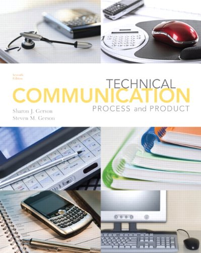 Technical Communication Process and Product 7th 2012 (Revised) edition cover